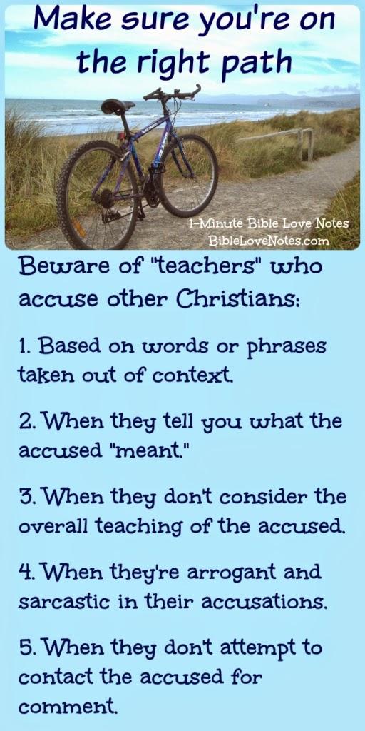 Don't believe everything you hear, false accusations against Christian teachers, arrogant accusations, slander