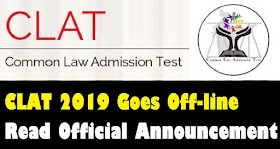 CLAT 2019 Goes Offline : Read Official News