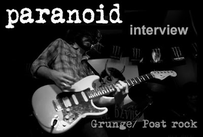 PARANOID - Interview Janvier 2018 (Grunge, post rock)