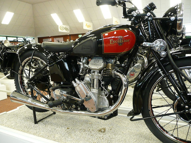 Excelsior Manxman classic racing motorcycle