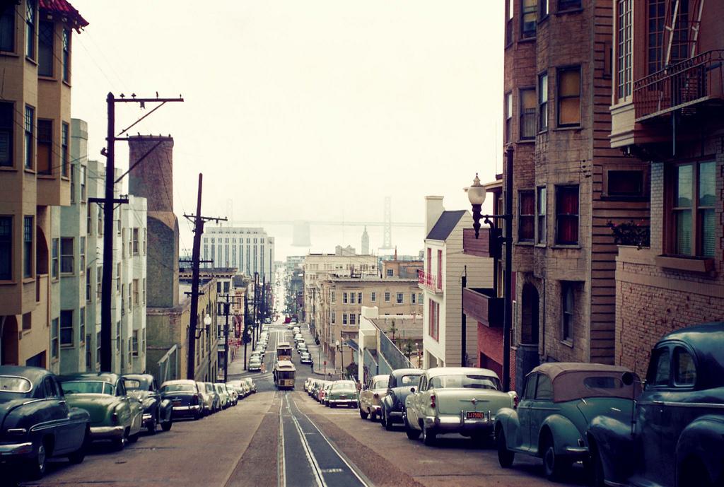 San+Francisco+street+scene+in+the+early+