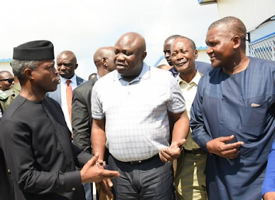 b Photos: VP Yemi Osinbajo, Gov Ambode, Ministers, take inspection tour of Dangote's Lekki Refinery, Petrochemical projects news