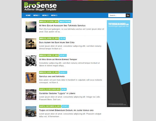 Free Download BroSense blogger template