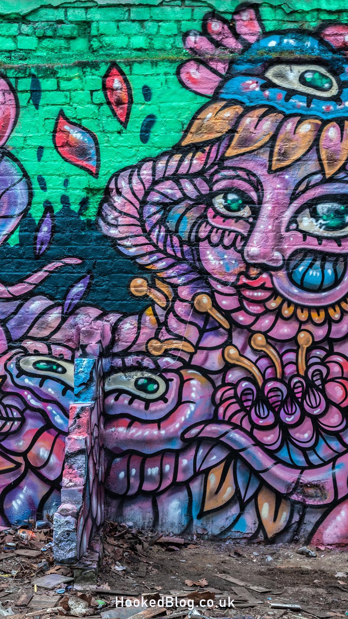 Brick Lane Street Art Mural painted by Amara Por Dios. Photo ©Hookedblog / Mark Rigney