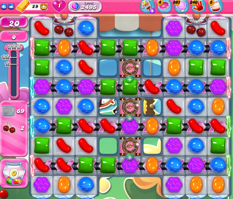 Candy Crush Saga level 2495