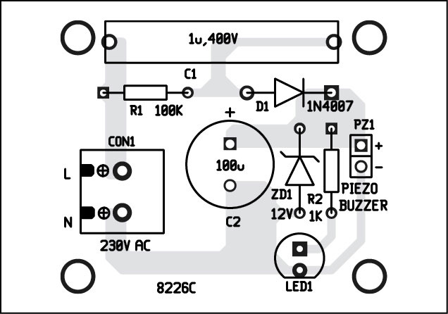 light and sound indicator for mains power supply project