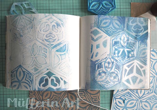 Hexagon Stempel Skizzenbuch ©müllerinart