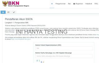 sscntraining BKN web percobaan