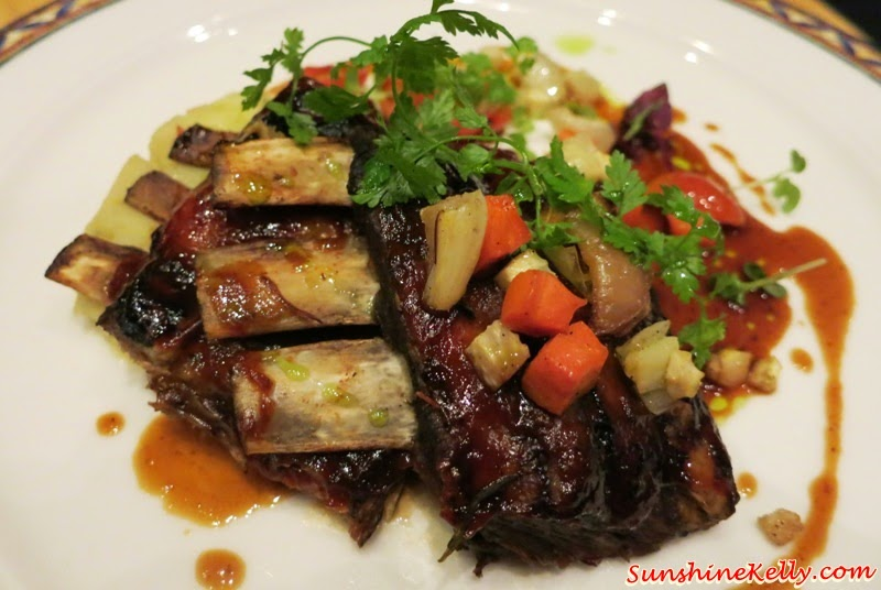 Honey lamb ribs, gorgonzola mashed potato, roasted vegetable, natural jus, Italian Dining Experience, Santa Margherita Wine Dinner, Villa Danieli, sheraton imperial kl, food review, food wine pairing