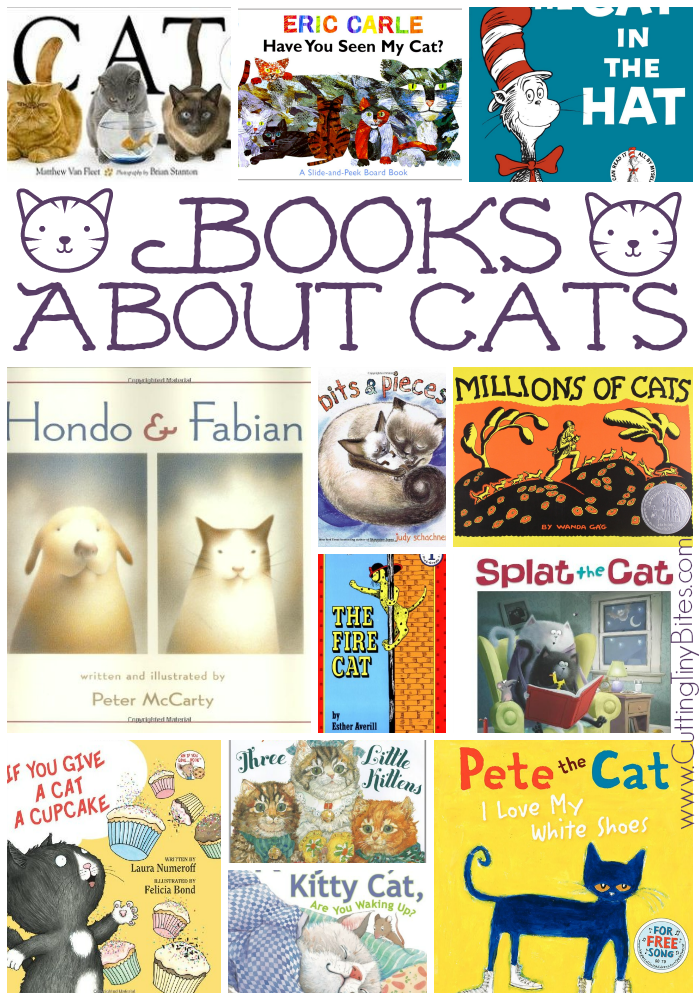Children's book list of books about cats. Over 10 choices for all ages, with brief reviews of each. Perfect for preschool or kindergarten cat theme unit.