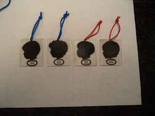 shrinky dink silhouette Christmas ornaments