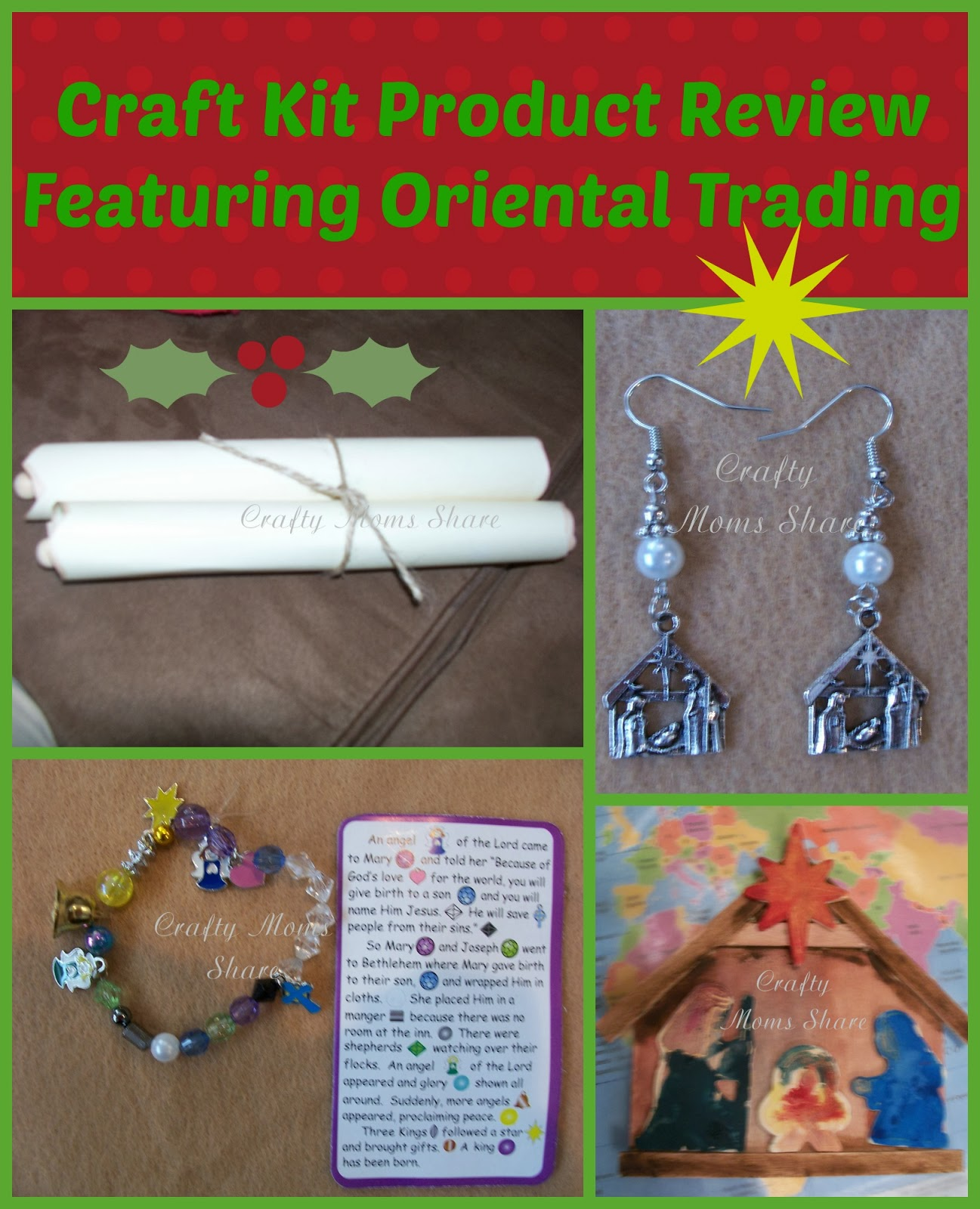 Oriental Trading Christmas.Crafty Moms Share Oriental Trading Christmas Craft Kit Review