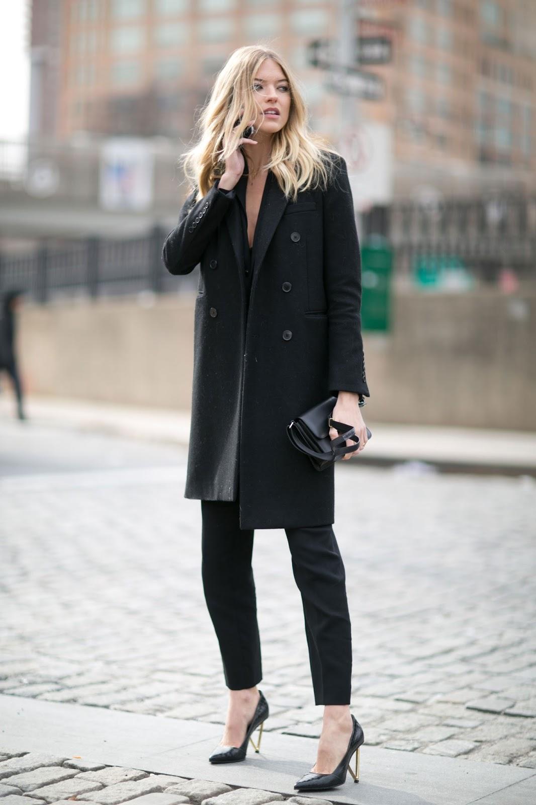 Street Style: Martha Hunt Dresses Up Simple Black