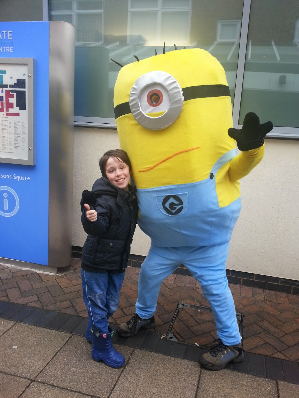 A boy and a minion