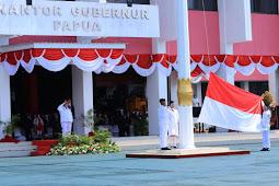 Upacara Peringatan Detik-Detik Proklamasi di Kantor Gubernur Papua Berlangsung Khidmat