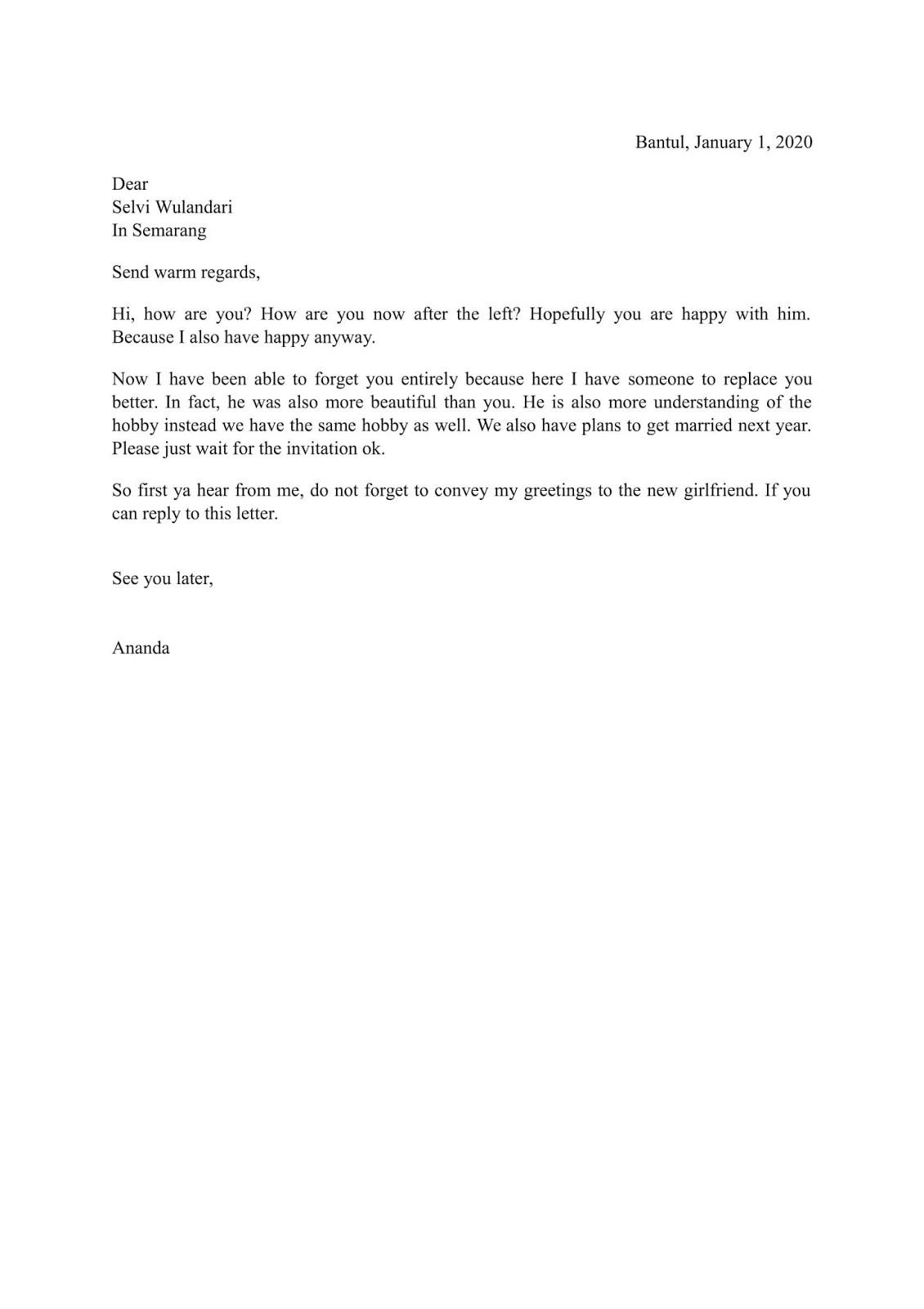 Letter Untuk Sahabat Pena Letter