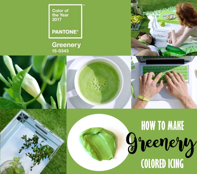 How to mix greenery colored frosting -- cookie decorating