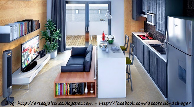 Muebles funcionales para espacios peque os decoraci n - Comedores modernos para espacios pequenos ...