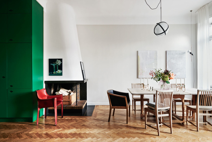 Loving that green cupboard!-Jonas Ingerstedt Interiors Photography