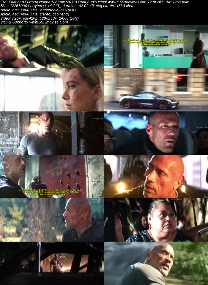 Fast and Furious Hobbs & Shaw (2019) Dual Audio Hindi 720p HDCAM x264 Movie Download