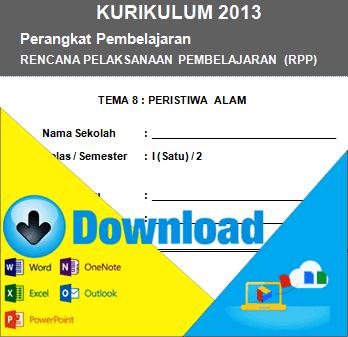 Download RPP Kurikulum 2013 Kelas 1 SD Tema Peristiwa Alam