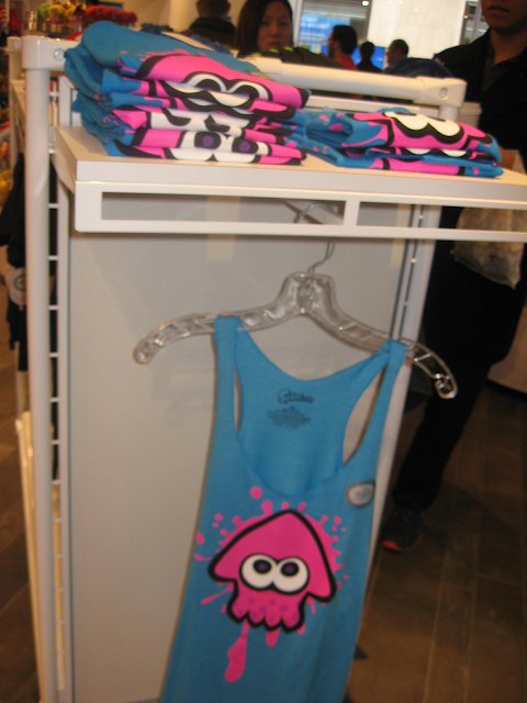 Splatoon tank top pink squid Nintendo NY World Store