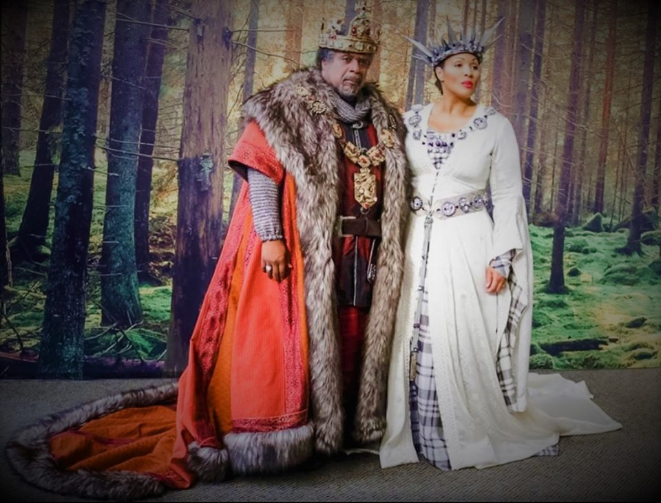 IN REVIEW: baritone MARK RUCKER as Macbeth (left) and soprano OTHALIE GRAHAM as Lady Macbeth (right) in Opera Carolina's November 2019 production of Giuseppe Verdi's MACBETH [Photograph © by Opera Carolina & Toledo Opera]