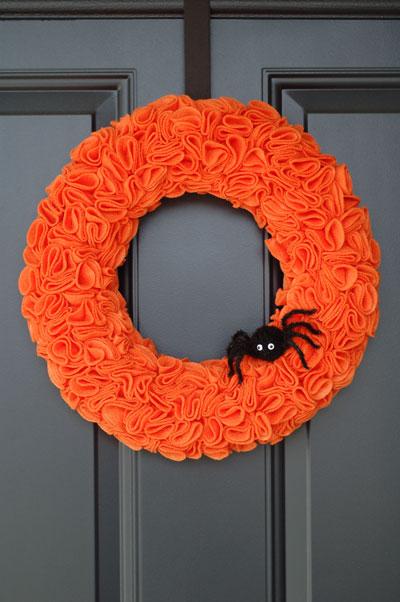 Wire Edge Ribbon Wreath