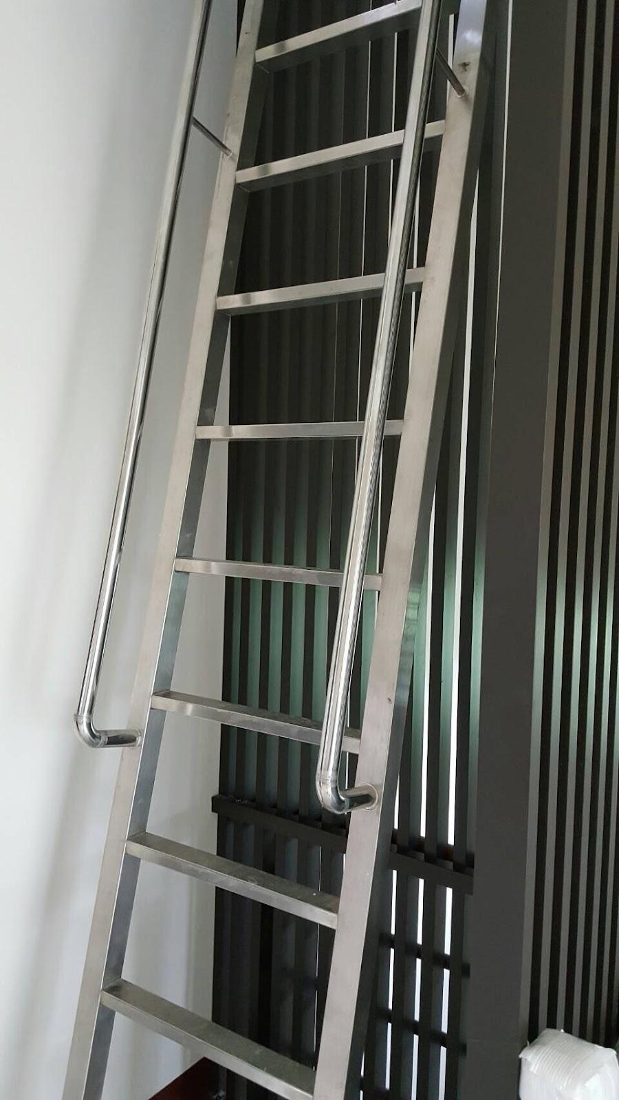 國筌工業社: 白鐵手扶樓梯,白鐵爬梯,戶外梯,水塔的階梯