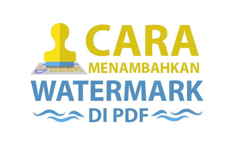 Cara Membuat Watermark di PDF