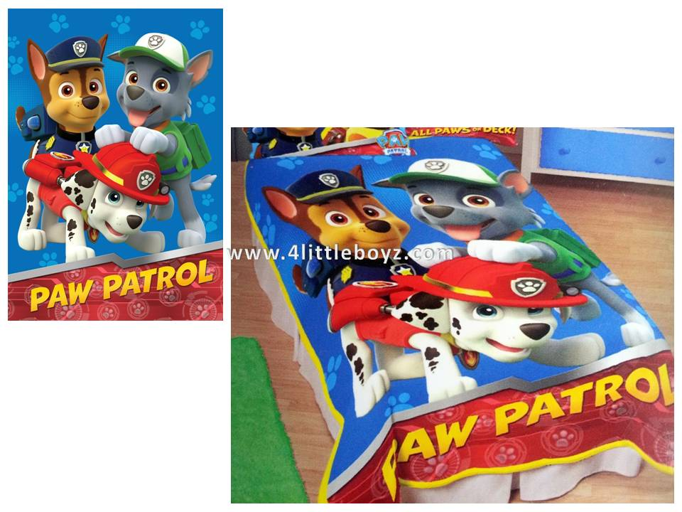 Nick Jr Paw Patrol All Paws on Deck Micro Raschel Blanket, 62 by 90 ...