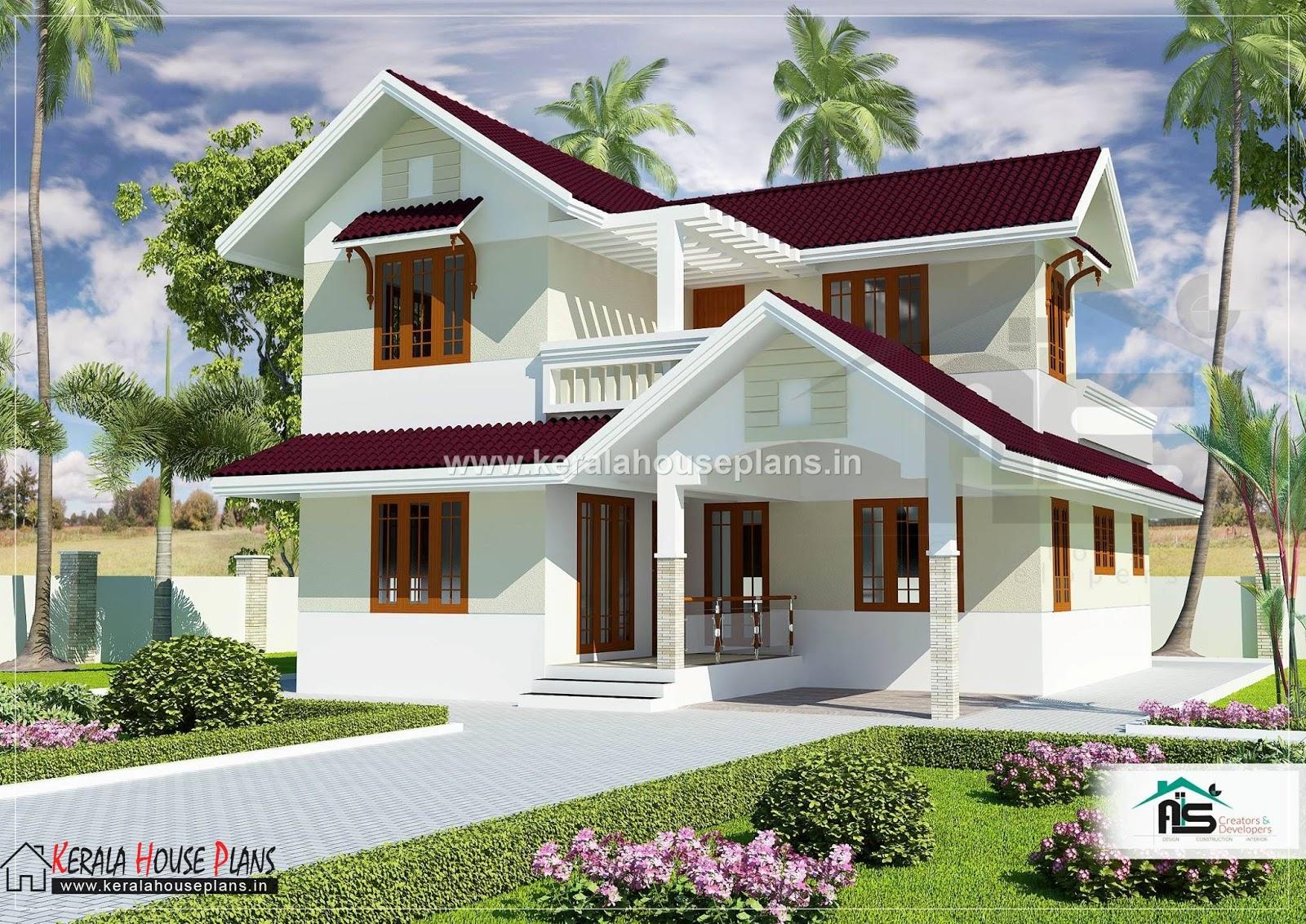 kerala model house plans with elevation 1829 sqft | Kerala ...
