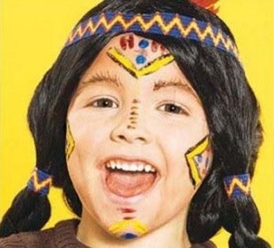 maquillaje de indio