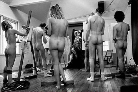 New Art class model nude