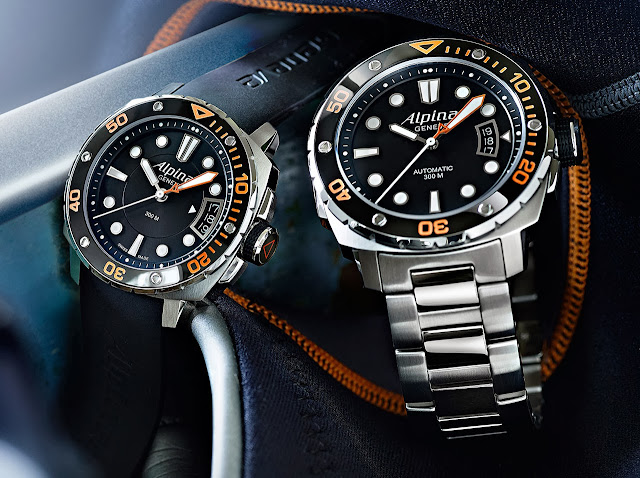 Alpina 300 Extreme Diver 300 Orange Watch
