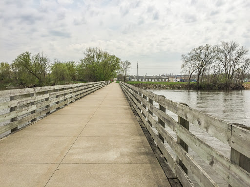 pedestrian bridge across the Rock River on the Janesville Segment of the IAT