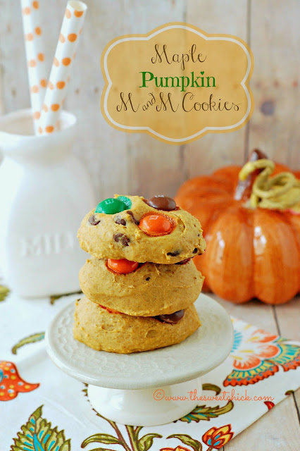 #maple #pumpkin #pumpkin spice #m&ms #cookies #dessert #fall #recipe