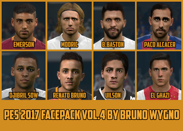 PES 2017 Facepack vol.4 by Bruno Wygno