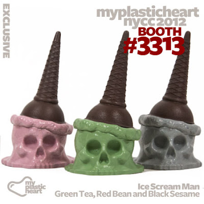NYCC 12 Exclusive Mini Ice Scream Man Figures by Brutherford - Red Bean, Green Tea & Black Sesame