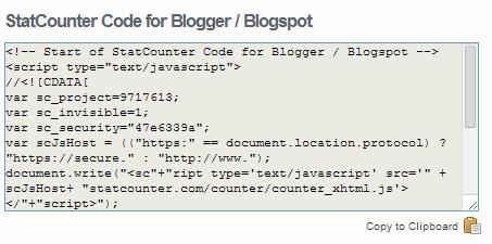 Cara Melihat Statistik Pengunjung Blog Dengan Statcounter 16