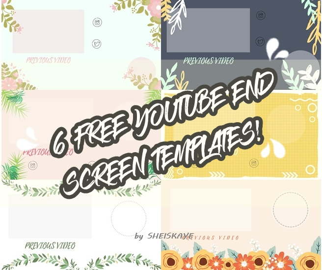 6 free youtube end screen templates