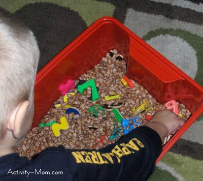 bean funnel and sensory box