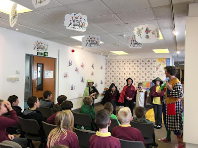 Roald Dahl day for  schools in Llanelli library