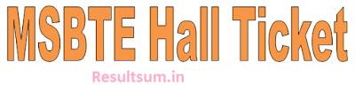 MSBTE Hall Ticket 2015 Winter