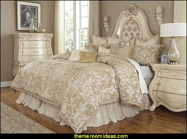 Luxembourg Comforter Set    Luxury Bedding - decorating with luxury bedding -  boudoir bedrooms - Discount Luxury Bedding - Adult bedding - Luxury Duvet Covers - Luxury Comforter sets - bed canopy - crown canopy - bed curtains