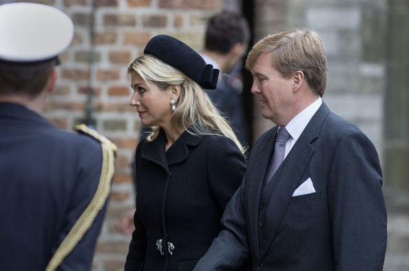 Dutch Royal Familiy attend Memorial service for Prince Johan Friso at the Old Church