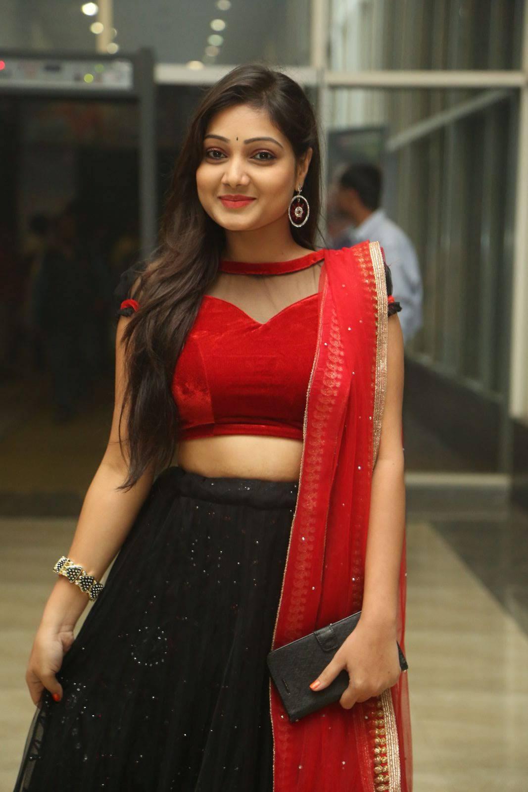 Telugu Tv Girl Priyanka Navel Show At Movie Trailer Launch -2486