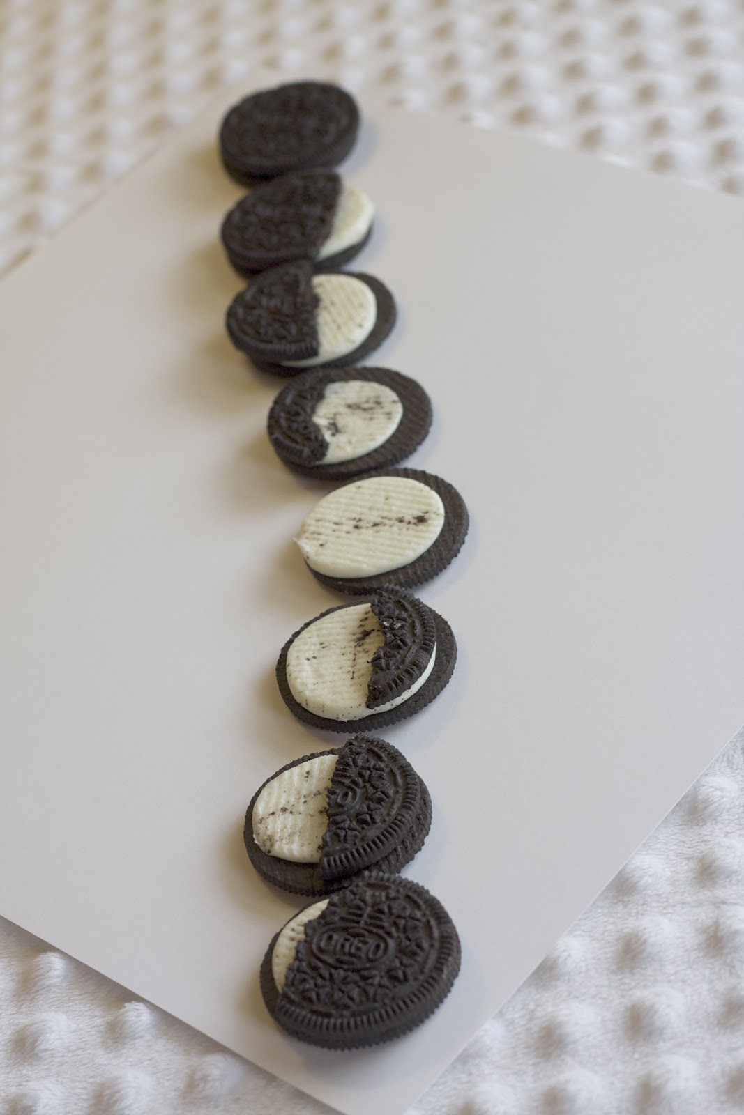 Fun Summer Kid Activity Oreo Moon Phases
