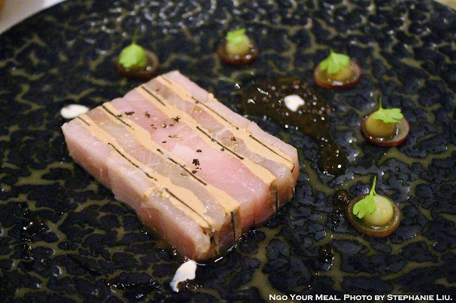 Hamachi, Black Truffle, and Foie Gras Mille-Feuille at Gabriel Kreuther in New York City