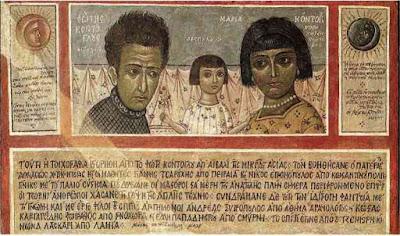 Νωπογραφία με την οικογένεια από το σπίτι της οδού Βιζυηνού   που φυλάσσεται στην Εθνική Πινακοθήκη (1932).   Μαρία και Δεσπούλα. Η λατρεμένη σύντροφος και η πολυαγαπημένη   κόρη του Φωτίου εμπνέουν και απεικονίζονται πολύ συχνά από τον ζωγρά